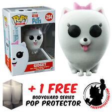 FUNKO POP SECRET LIFE OF PETS GIDGET FLOCKED VINYL FIGURE + FREE POP PROTECTOR