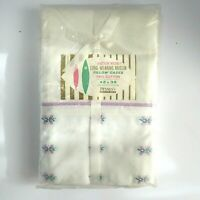 Vintage 1950's Pair Pillow Cases NEW IN PACKAGING Nationwide Penny's Muslin KING