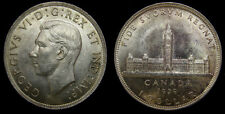 1939 Canada 1 One Silver Dollar King George VI MS-62 Toned