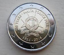 * 2 € COMMEMORATIVE - UNC - MALTE 2014 - 200 ans de la Police Maltaise