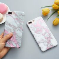 Ultra Slim Marble Pattern Rubber Soft TPU Back Case Cover for iPhone X/ 7/8 Plus