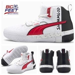"Size 15 Puma Limited Edition ""Legacy Shamgod"" White/Red/Black NYC NBA Basketball"