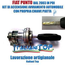 FIAT PUNTO DAL 2003 KIT ACCENSIONE AVVIAMENTO CILINDRETTO BLOCCHETTO SERRATURA