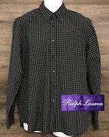 Ralph Lauren Purple Label Men's Plaid Long Sleeve Button Front Shirt Italy 16.5