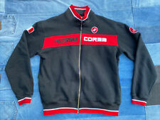 Castelli Rosso Corsa Full Zip Track Jacket XL Black Red Retail $100 FREE SHIPPIN