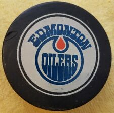 Vintage Edmonton Oilers made in canada Official Size Hockey Puck
