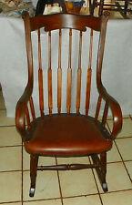Steam Bent Elm Rocker / Rocking Chair  (R177)