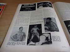 RIVISTA VINTAGE Boxe-L' ANELLO-FEBBRAIO 1957-Rocky Marciano