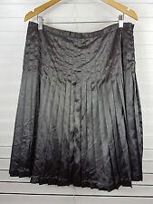 DIANA FERRARI sz 14 womens Grey Pleated Satin Skirt