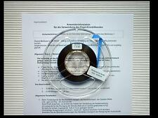Calibration tape REFERENCE LEVEL 500 nWb/m 7.5 ips - 19 cm/s Pegel-Messband