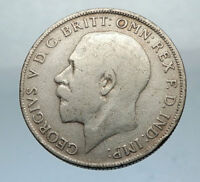1921 United Kingdom Great Britain GEORGE V Silver Florin 2 Shillings Coin i66881