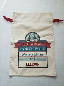 21 inch * 14 inch Ellison Santa Sacks Canvas Bag Drawstring Christmas Kids Xmas