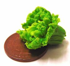 1:12 Scale Single Green Lettuce Dolls House Vegetable Kitchen Food Accessory