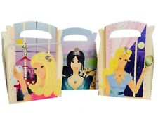40 Girls Princess Meal Boxes ~ Birthday Party Picnic Box ~ Carry Food Plate Bag