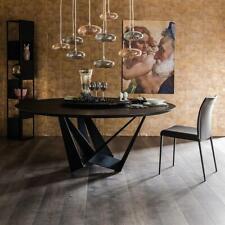 Designer Ess Tisch Rund Metall Runde Tische Wohn Glas Frei stehend Zimmer Luxus