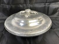 Vintage Continental Silverlook 557 Hand Wrought Chafing Serving Dish with Lid