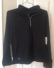 Ralph Lauren Woman's Pullover 1/4 Zip Black Jacket $79 Petite Small NWT