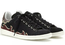 Isabel Marant Etoile Gilly Flame Canvas & Suede Trainers - UK size 4/Eur 37