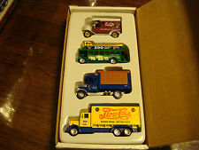 GOLDEN WHEELS 4 DIECAST TRUCK SET - PEPSI, US MAIL, GOOD HUMOR  - NEW IN BOX