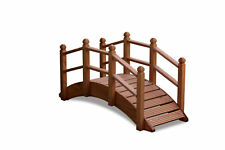 More details for oriental wooden garden bridge 122cm uk manufactured teak finish