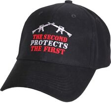 """Black """"The Second Protects The First"""" Adjustable Cap Baseball Hat"""