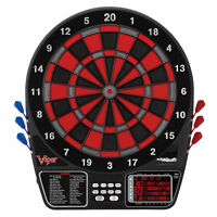 Viper 797 Electronic Soft Tip Dartboard Cabinet Set with Darts for Game Room