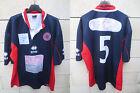 VINTAGE Maillot rugby A.S BEZIERS HERAULT porté n°5 Errea match worn shirt XXL