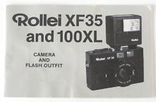 Instruction Manual for Rollei XF35 and 100XL