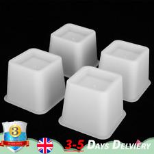4x Sofa Furniture Raisers Square Bed Leg Risers Table Chair 12x12x10cm Luminous