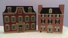 The Cat's Meow set of 2 Franklin Library & Christmas series Keith House