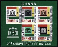 Ghana Bl. 23 **, 20 Jahre UNESCO
