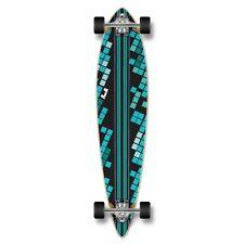 Yocaher Pintail Black Digital Wave Longboard Complete