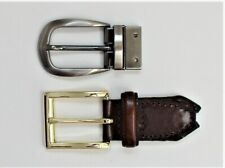 """Lot (1) Silver and (1) Gold Tone Belt Buckles Fit 1-1/8"""" Wide Belt"""