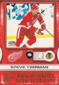 STEVE YZERMAN NO:2 DIAL-A - STATS  in PRISM McDONALD 2000-01  near mint