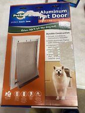 PetSafe Freedom Aluminum Pet Door, Medium, Whit 00006000 e, Tinted Vinyl New Damaged Box