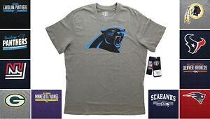 OTS NFL Team T-Shirt Men's, Short Sleeve Football Tee, 100% Cotton, Choose Team