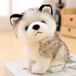 Realistic Husky Dog Plush Toy Stuffed Animal Soft Wolf Pet Doll Kid Gift 12''