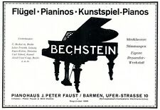 Piano House Fist barmen Advertising 1925 Piano Wing Bechstein Advertising