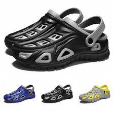 Mens Clogs Garden Sandals Lightweight Barefoot Slip On Flat Summer Water Shoes B