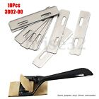 10x Stainless Steel Replacement Blades + Box For Skiver Safety Leather Lace Tool
