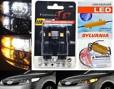 LED Switchback Light 3030 White Amber 4157 Two Bulbs Resistor Front Turn Signal