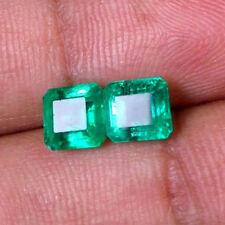 2cts Natural Zambian Emerald Matching Earing Pair Loose Gemstone