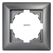 Gunsan Visage 1-fach Rahmen für 1 Steckdose Schalter Dimmer Dunkelsilber -140