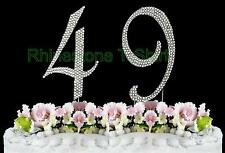 Large Rhinestone NUMBER (49) Cake Topper 49th Birthday Wedding Party Anniversary