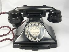 STUNNING ART DECO PYRAMID BAKELITE TELEPHONE + BELL 232 Antique Retro dial phone
