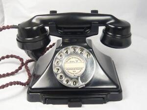 ART DECO PYRAMID BAKELITE TELEPHONE + BELL 232 200 Series Antique dial phone