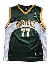 Vintage Reebok Seattle SuperSonics Radmanović Jersey NBA Basketball Youth L