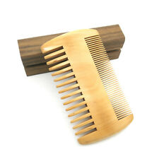 Hand Made Wood Beard Comb Double-sided Anti-static Hair Care Brush Comb FM