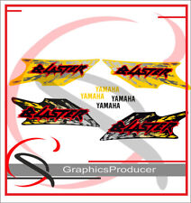 Yamaha Blaster Decals Reproduction Full Set Custom Design 1997 Model Yellow
