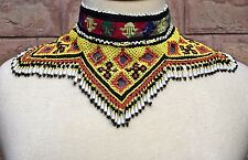Kuchi Jewelry Necklace Ethnic Afghan Kochi Craft Boho Chic Beaded Tribal Choker